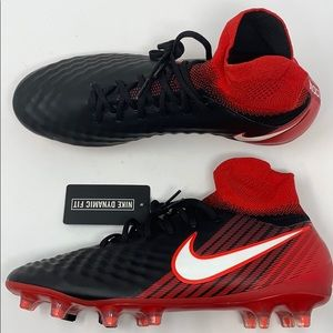 Nike magista cleat black red